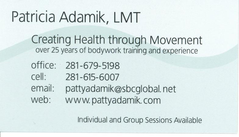 Patty Adamik's Health through Movement