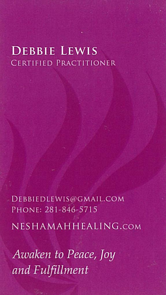 Debbie Lewis, Neshamah Energy Practitioner