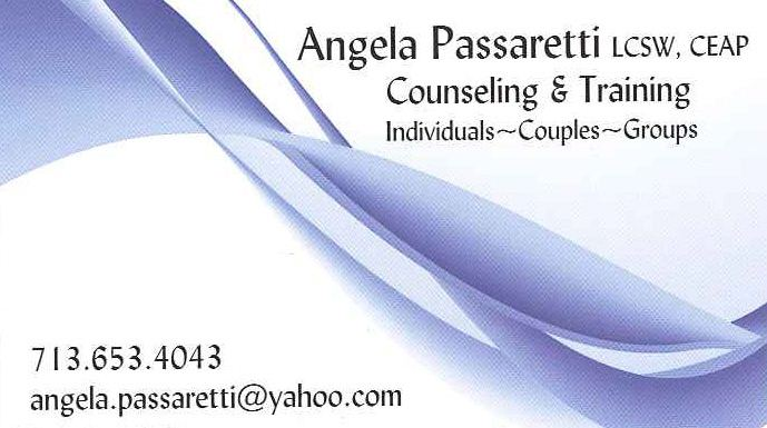 Angela Passaretti, LCSW, CEAP  Counseling and Psychotherapy