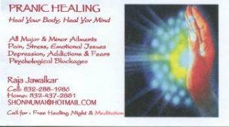 Pranic Healing with Raja Jawalkar