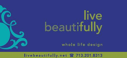 Live Beautifully, whole life design