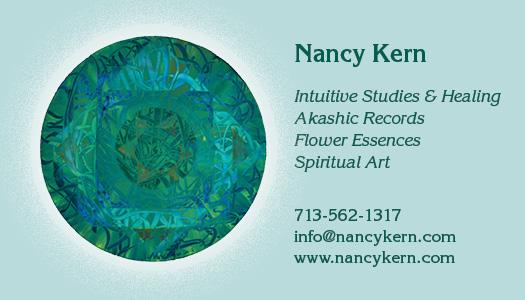 Akashic Records by Nancy Kern; Intuitive Studies & Healing, Akashic Records, Flower Essences, Spiritual Artwork